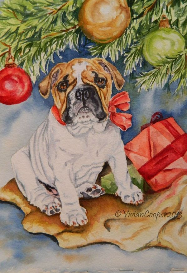 Painting my Christmas Cards This Year! - Art by Vivian Cooper